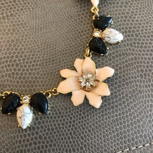 Kate Spade Floral Marble and Gold Necklace